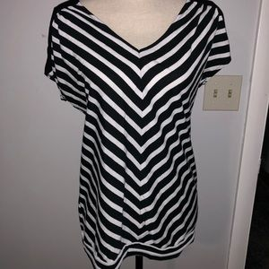 Motherhood Maternity Striped Blouse size M